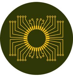 Circuit board element vector image vector image