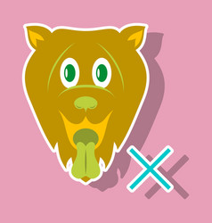 Cute funny cartoon dog puppy pet furry human vector
