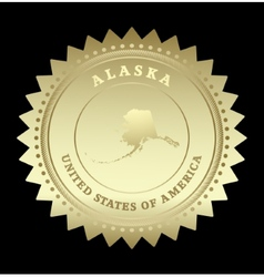 Gold star label Alaska vector image vector image
