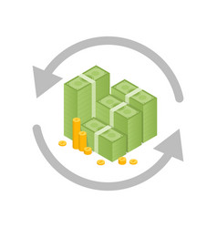 money exchange and conversion concept vector image vector image