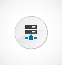 net drive icon 2 colored vector image