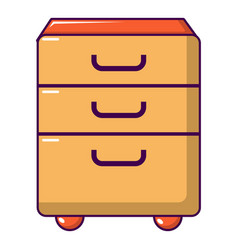 wardrobe files icon cartoon style vector image
