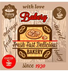 bakery menu vector image