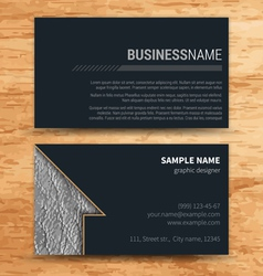 creative business cards set template vector image