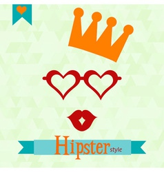 Hipster greeting card vector image