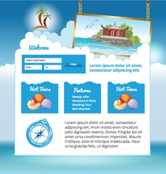 travel web site vector image