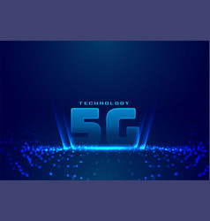 5g fifth generation technology digital background vector image