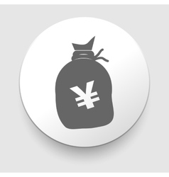 A big sack with Yen currency sign vector