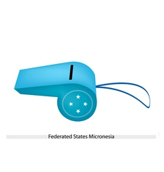 A whistle federated states micronesia vector
