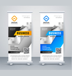 abstract business rollup banner design vector image