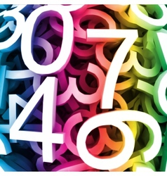 Abstract colorful digital numbers vector image