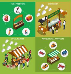 Agricultural market design concept vector