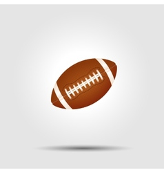 American football ball isolated on white with vector image