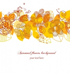 Autumn flowers background vector
