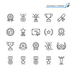awards line icons editable stroke pixel perfect vector image