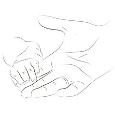Babys hand vector