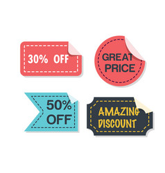 banner set of great price image vector image