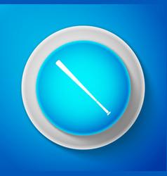 baseball bat icon isolated on blue background vector image