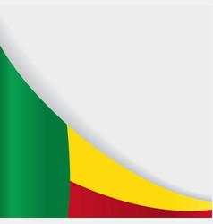 benin flag background vector image