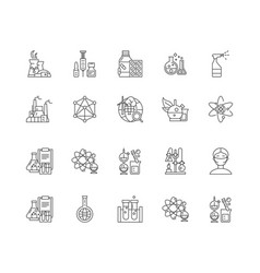 biochemistry line icons signs set vector image