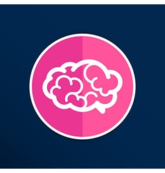 Brain icon mind medical brainstorm head human vector image