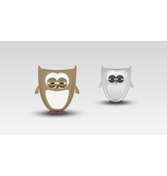 Cartoon Owl in vector image