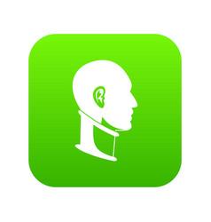 cervical collar icon digital green vector image