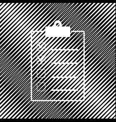 checklist sign icon hole in vector image