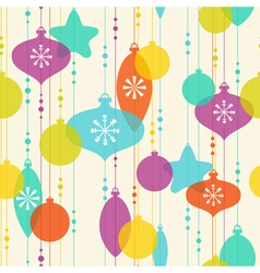 Christmas decoration pattern on light background vector image