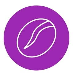 Coffee bean line icon vector image