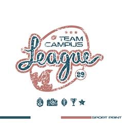 college rugteam emblem vector image