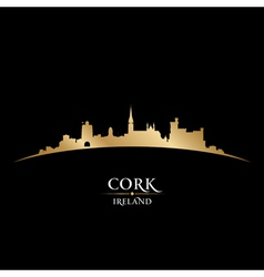 Cork Ireland city skyline silhouette vector image