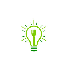 Creative food logo icon design vector