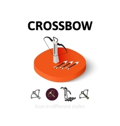 Crossbow icon in different style vector