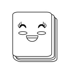 Cute notebook cartoon vector
