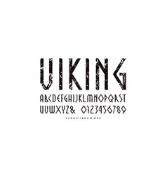 Decorative geometric narrow sans serif font vector