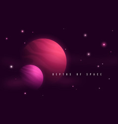 deep space sci-fi abstract vector image