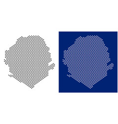 Dot sierra leone map vector