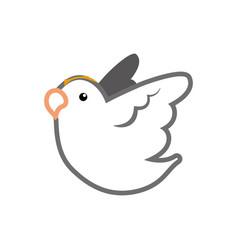 dove bird symbol vector image