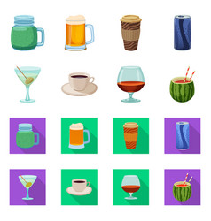 Drink and bar symbol set vector