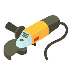 Electric sander icon isometric 3d style vector