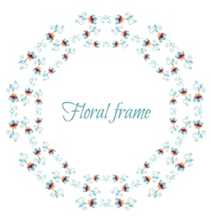 Elegant floral frame with stylized flowers vector image