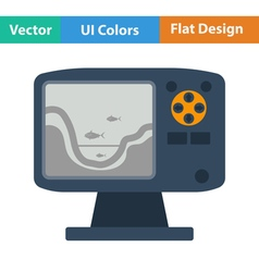 Flat design icon of echo sounder vector