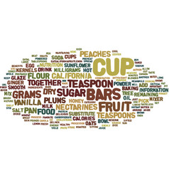 Fruit phyto bars text background word cloud vector