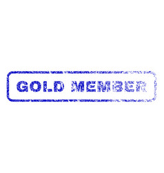 Gold member rubber stamp vector