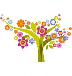 graphic tree design vector image