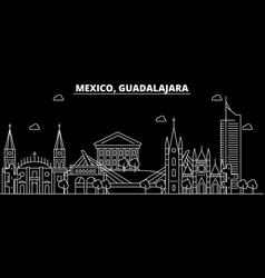 Guadalajara silhouette skyline mexico vector