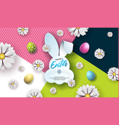 happy easter holiday vector image