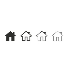 House icons set black houses symbols vector