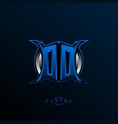 initial dd logo design initial oo logo design vector image